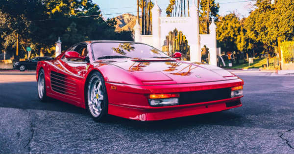 1990 Ferrari Testarossa 14 years College Tuition 2