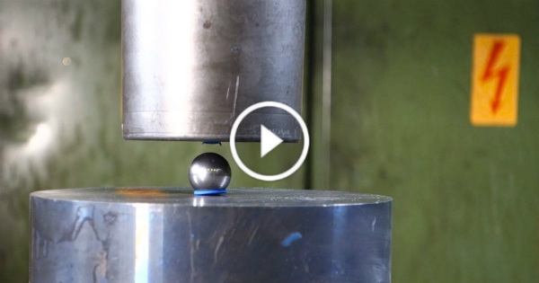 Hydraulic Press VS Bearing Ball items crushed 1