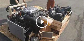 First Dodge Challenger Hellcat Powertrain 6