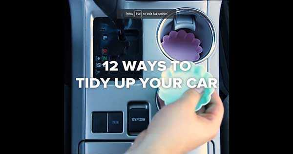 12 DIY Ideas To Have A Tidy Car 12
