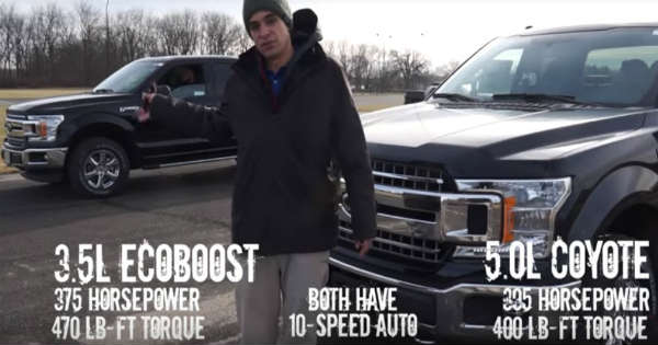2018 Ford F150 35L Ecoboost vs Ford F150 50L V8 Coyote 2