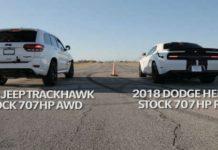 2018 Jeep Hellcat VS Hellcat Challenger Widebody 1