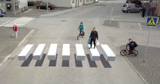 3D Zebra Crossings Greater Road Safety Iceland 1
