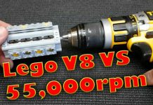 50000 RPM DeWALT Power Tool vs LEGO V8 Engine 1