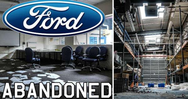 Abandoned Ford Plant massive cars left 2