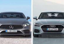 Audi A7 vs Mercedes CLS 1