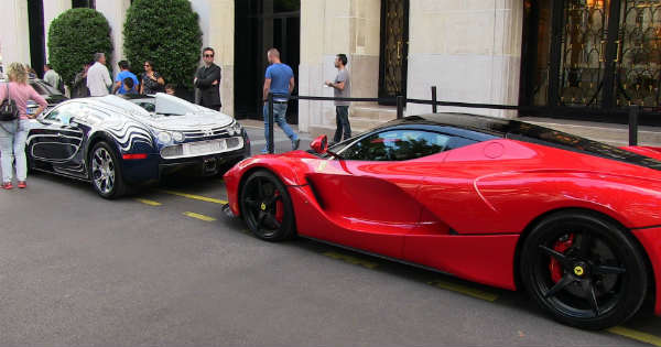 Bugatti hits LaFerarri Most Expensive Ferrari Collision 2