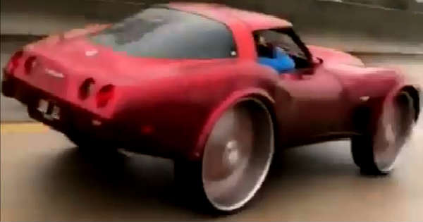 Chevy Corvette C3 With Huge Donk Wheels 2