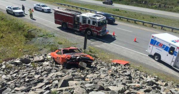 Crashed General Lee Clone Car Dodge Charger Nova Scotia 1