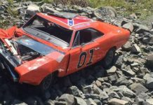 Crashed General Lee Clone Car Dodge Charger Nova Scotia 2
