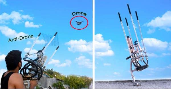 DIY Drone Catcher anti drone net homemade 2