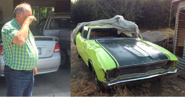 Dads Ford Falcon XA Superbird Restored After 20 Years Sitting In A Farm