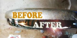 Easy Rust Removal Chrome Coca Cola Aluminum Foil 1