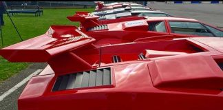 Eight Lambo Countach On One Spot 1
