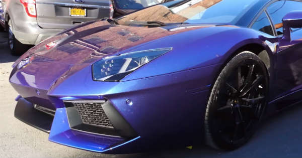 First Liquid Wrap Lamborghini Aventador US 1