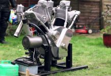 First Test Run Flying Millyard - 5 Litre V Twin Engine 1