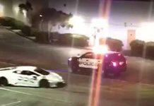Lamborghini Police Escape Caught On Tape 1