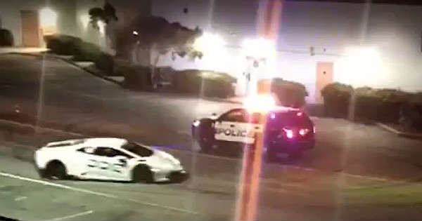 Lamborghini Police Escape Caught On Tape 1