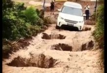 Land Rover Power Conquering Holes Torture test potholes 1
