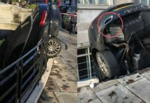 Mercedes C Class Crashed Into A Flat 1