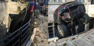Mercedes C Class Crashed Into A Flat 1