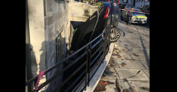 Mercedes C Class Crashed Into A Flat 2