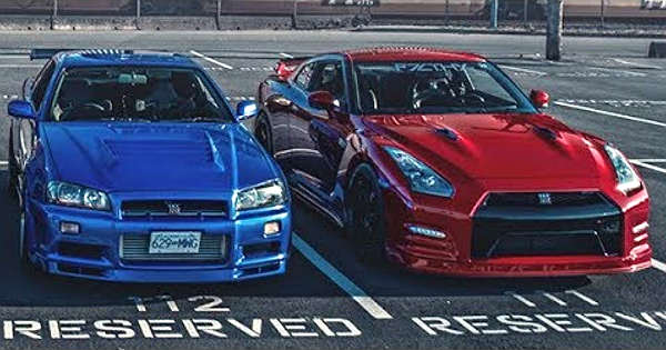 nissan skyline gtr r34 vs nissan gtr r35 drag race. Black Bedroom Furniture Sets. Home Design Ideas