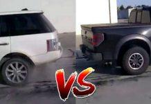 Range Rover vs Ford Raptor - Tug Of War 1