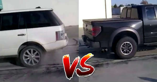 Range Rover vs Ford Raptor - Tug Of War 1