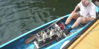 Stirling Engine Powered Canoe hate paddling 1