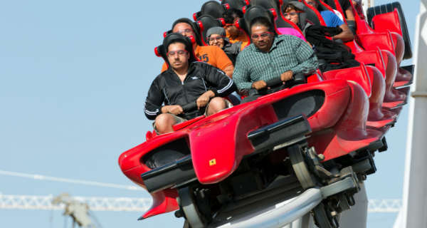 The Formula Rossa Roller Coaster at Ferrari World 22