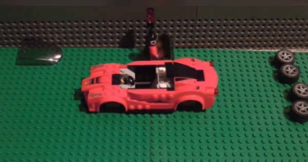This Man Built His Own Lego Ferrari Car 2