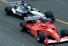 Trulli VS Schumacher VS Montoya F1 Melbourne 2002 11