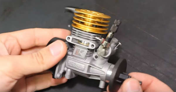 Twin Nitro Engine small diy scratch assemble 2
