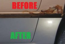 temporary Fix Big Rust Holes car without welding 2