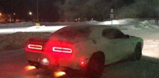 1000HP Hellcat ChallengerShootingFlames Having Fun in the Snow 1