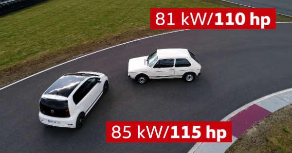 2018 VW UP GTI vs 1976 VW Golf 1 GTI - Future vs Past 2