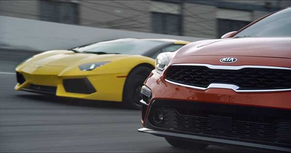 2019 Kia Forte Takes On The Lamborghini Aventador 1