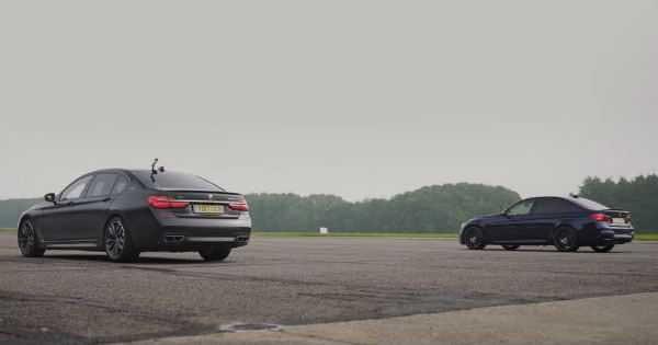 BMW M760Li vs BMW M3 Competition 2