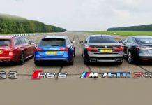 BMW M760Li vs Mercedes-AMG E63 vs Tesla Model S vs Audi RS 6 1