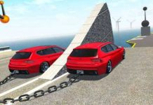 Chained Cars vs Big Ramp 1