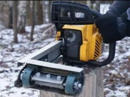 Chainsaw hack - Stump removal tool 1
