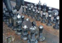DIY Chess Set Using Screws Nuts Washers 11