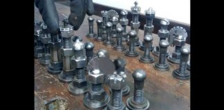 DIY Chess Set Using Screws Nuts Washers 11