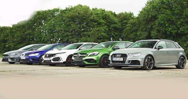 Drag Race Civic Type R vs RS Focus vs AMG vs Audi RS3 vs Golf R 11