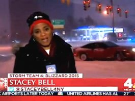 Drifting Car Nearly Crashed Into NBC Storm Reporter 1
