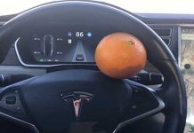 Driver Tricks The Tesla Autopilot Safety System With An Orange 1