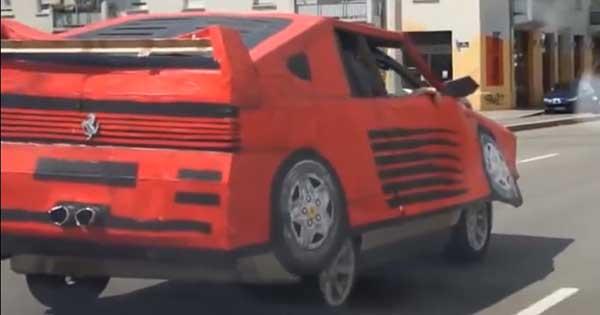 Fake Ferrari Mask 1