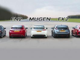 Four Generations Of Honda Civic Type R Cars In A Drag Race 1