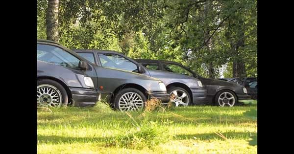 Graveyard With Abandoned Ford Sierra RS Cosworth 2